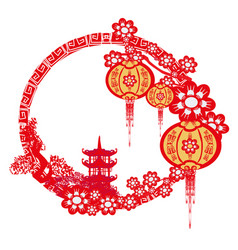 Mid-autumn festival for chinese new year frame vector