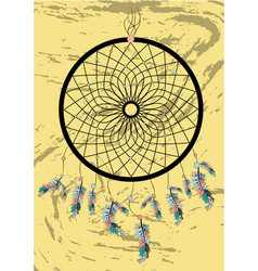 native american indian dream catcher traditional vector image