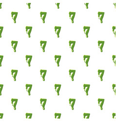 Numder 7 made of green slime vector
