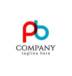 pb company logo letter template design vector image