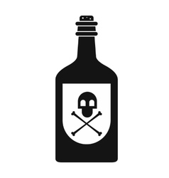 Poison bottle black simple icon vector image