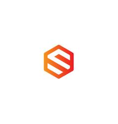 polygon s initial brand company logo vector image
