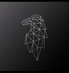 Polygonal design raven bird geometric raven vector