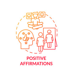 Positive affirmations concept icon vector