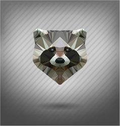 Raccoon in the style of origami vector