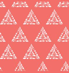Red shibori monochrome triangles seamless vector