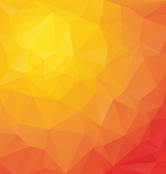 Reflection red orange polygonal triangular pattern vector