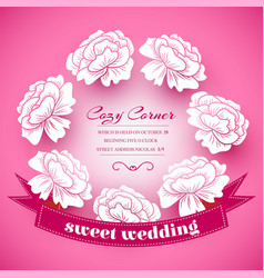 retro flower background concept vector image