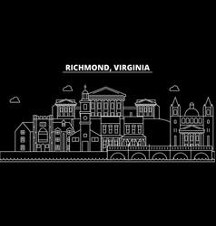 Richmond silhouette skyline usa - richmond vector