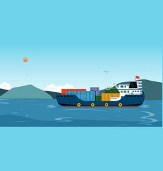 sea transportation logistic vector image