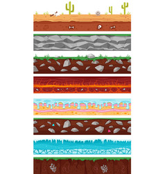seamless grounds soils and land vector image
