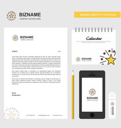 Star business letterhead calendar 2019 and mobile vector