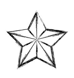 star funny comic cartoon decoration icon vector image
