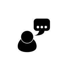 talking flat icon vector image