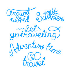 travel lettering inscriptions logos isolated on vector image