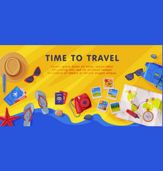 Travel time with tourism attribute like map vector