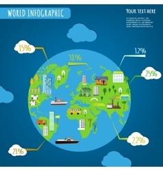 USA infographics WORK vector image