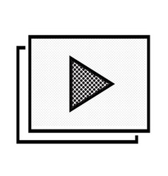 video stream play icon vector image
