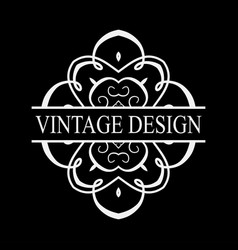 Vintage ornate logo vector
