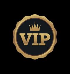 vip membership gold badge premium quality vector image