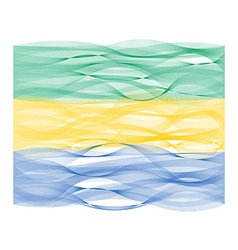 Wave line flag of Gabon vector