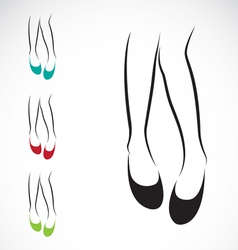 Woman legs with shoes vector