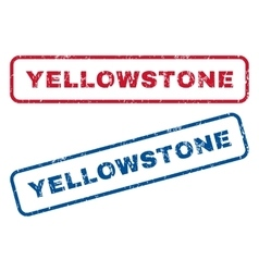 Yellowstone Rubber Stamps vector