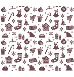 christmas seamless pattern new year endless vector image