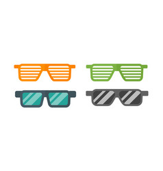 fashion set sunglasses retro accessory vintage vector image