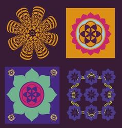 Four elements for meditation design vector image vector image