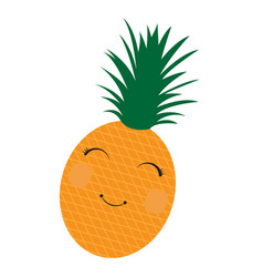 isolated happy pineapple vector image
