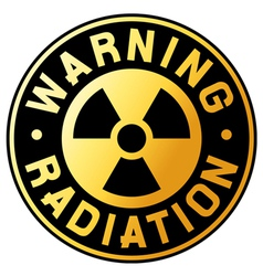 nuclear warning symbol vector image