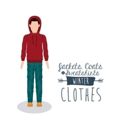 winter clothing design vector image