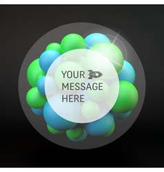 3d Abstract Spheres Composition Technology Style vector image vector image