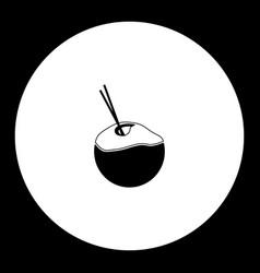 coconut milk drink simple black icon eps10 vector image vector image