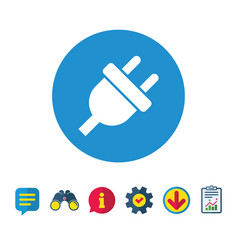 electric plug sign icon power energy symbol vector image vector image