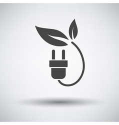 Electric plug with leaves icon vector image