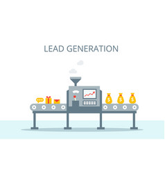 Lead generation concept process of leads vector