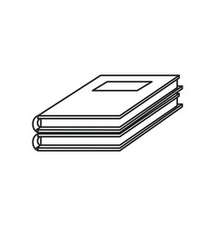 notebook study educational icon thin line vector image