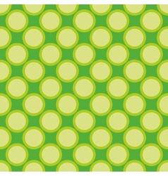 Seamless pattern green polka dots background vector
