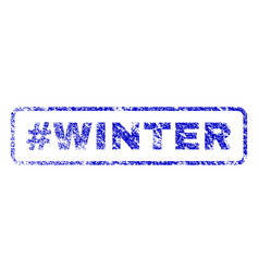hashtag winter rubber stamp vector image vector image