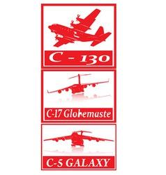 military cargo planes vector image