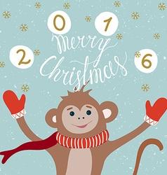 Monkey year card vector image vector image