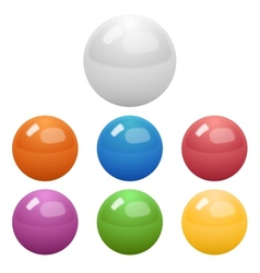 Set of glossy colored balls vector image