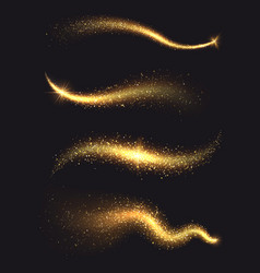 sparkle stardust golden glittering magic vector image vector image