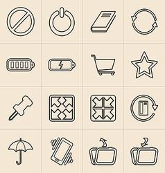 Digital marketing line icons vector