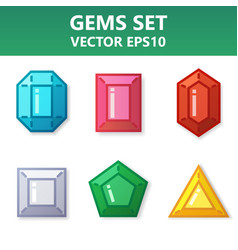 modern set of colorful gems for website or mobile vector image vector image