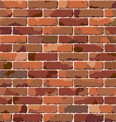 old brick wall seamless pattern vector image vector image