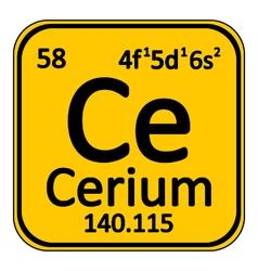 Periodic table element cerium icon vector image vector image