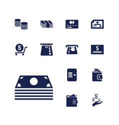 13 payment icons vector